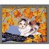 Непослушный котик, серия Животные и птицы, рисование по номерам, 40 х 50 см, Идейка, непослушный котненок (KH021)