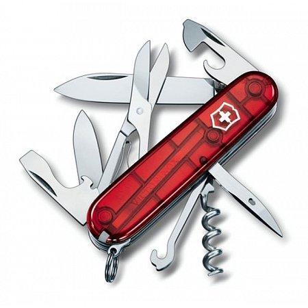 Нож Victorinox Climber 1.3703.T полупрозрачный красный Victorinox