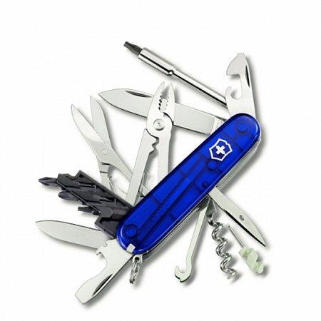 Нож Victorinox CyberTool 34 1.7725.T2 полупрозрачный синий