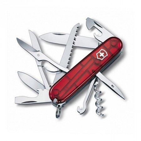 Нож Victorinox Huntsman 1.3713.T полупрозрачный красный Victorinox