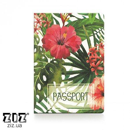 Обложка для паспорта Тропики, ZIZ-10100