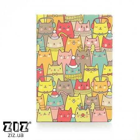 Обложка для паспорта Зимние коты, ZIZ-10098