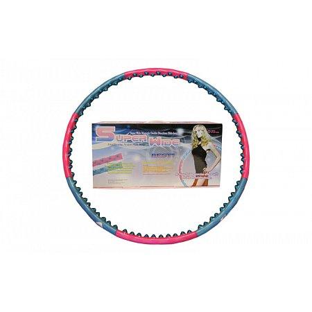 Обруч массажный Hula Hoop FI-9002 SUPER WIDE (1,6кг, пластик, 8 секций, d-100см)