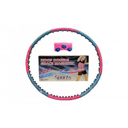 Обруч массажный Hula Hoop JS-6008 DOUBLE GRACE MAGNETIC (1,5кг, пластик, 8 секций, d-104см,с магнит)