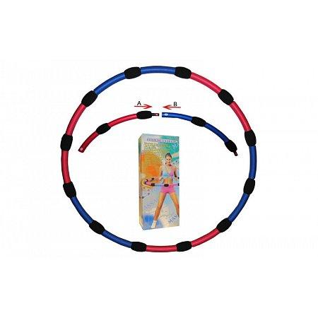 Обруч массажный Hula Hoop M007 HU-LA RING (1,5кг, пластик, неопрен, 6 секций, d-90см)