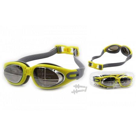 Очки, беруши для плавания с застежкой SEALS 1168 (пластик, силикон, цвета в ассортименте)