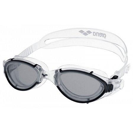 Очки для плавания ARENA AR-92342-55 NIMESIS (поликарбонат, TPR, силикон, черно-прозрачные)