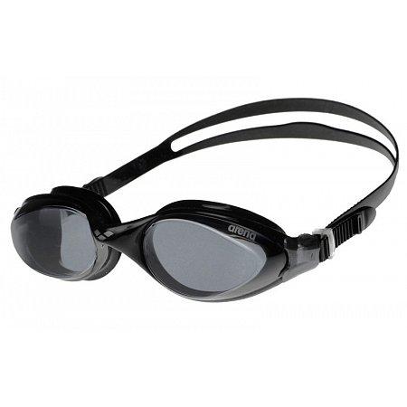 Очки для плавания ARENA AR-92373-55 FLUID (поликарбонат, TPR, силикон, серый-черный)