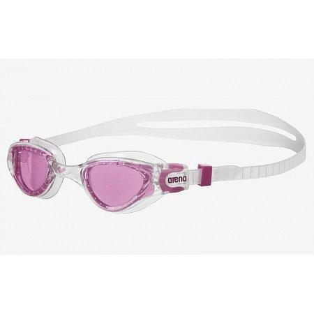 Очки для плавания ARENA детские AR-1E002-18 CRUISER SOFT JR (поликарбонат, TPR, силикон, серый-розовый)