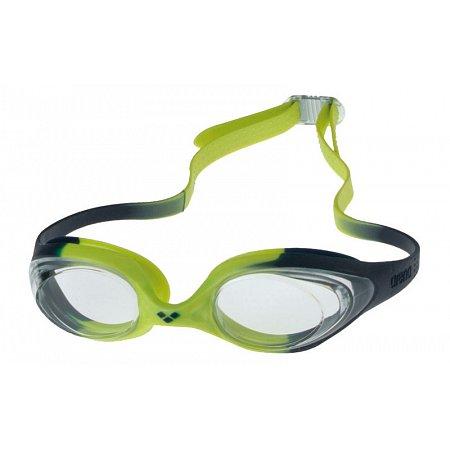 Очки для плавания ARENA детские AR-92338-71 SPIDER JR (поликарбонат, TPR, силикон, салатовые)