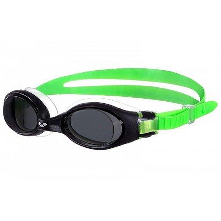 Очки для плавания ARENA детские AR-92406-56 FREESTYLE JR (поликарбонат, TPR, силикон, черно-зеленые)