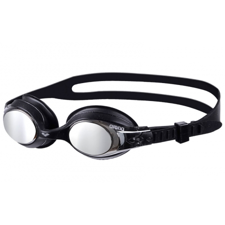 Очки для плавания ARENA детские KIDS AR-92420-55 X-LITE MIRROR (поликарбонат, TPR, силикон, черные)