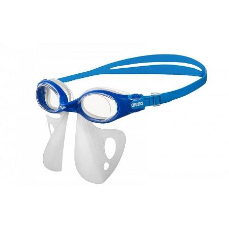Очки для плавания ARENA детские с рассекателем AR-1E053-70 FS BREATHER KIT JR (TPR,силикон, голубой-серый)