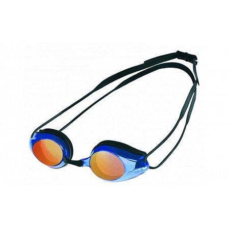 Очки для плавания ARENA стартовые AR-92370-74 TRACKS MIRROR UNISEX (поликарбонат,TPR, силикон, черно-син)