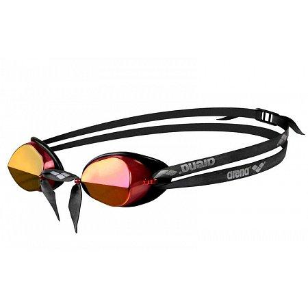 Очки для плавания ARENA стартовые AR-92399-48 SWEDIX MIRROR (поликарбонат, TPR, резина, красн-желт-черн)