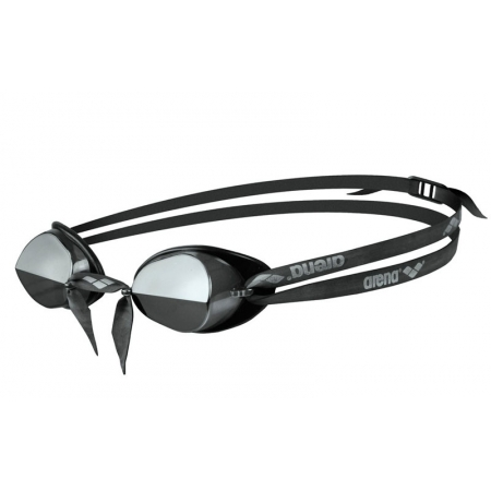 Очки для плавания ARENA стартовые AR-92399-55 SWEDIX MIRROR (поликарбонат, TPR, резина, серый-черный)