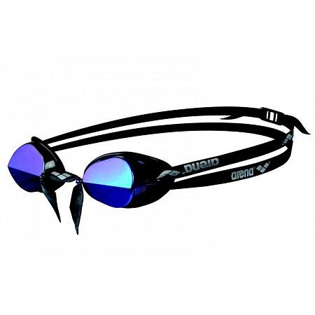 Очки для плавания ARENA стартовые AR-92399-57 SWEDIX MIRROR (поликарбонат, TPR, резина, сер-голубой-чер)