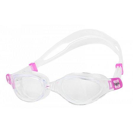 Очки для плавания детские SPEEDO 8090109310 FUTURA PLUS JR (поликарбонат, силикон,прозрачно-розовые)