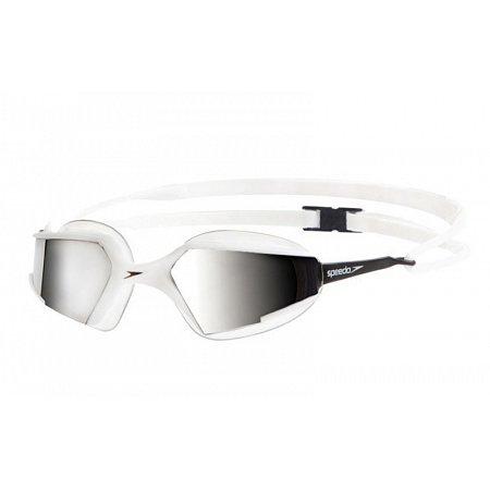 Очки для плавания SPEEDO 8087677238 AQUAPULSE MAX MIRROR (поликарбонат, TPR, силикон, бело-сереб)
