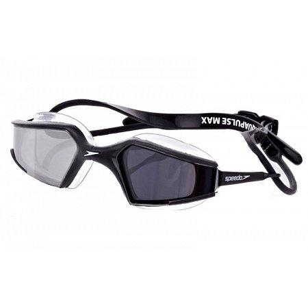 Очки для плавания SPEEDO 8087677485 AQUAPULSE (поликарбонат, TPR, силикон, черные, белые)