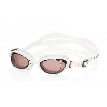 Очки для плавания SPEEDO 8090048914 AQUAPURE FEMALE (поликарбонат, TPR, силикон, бело-коричневые)