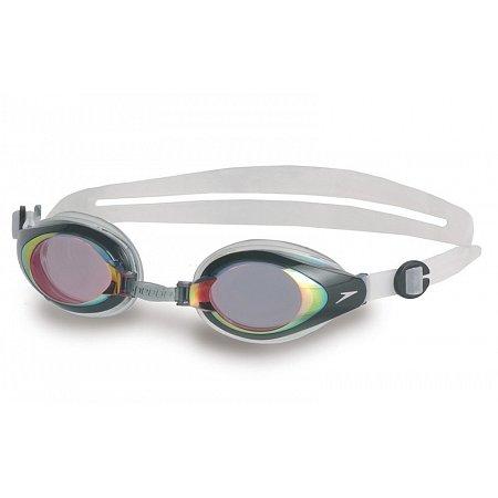 Очки для плавания SPEEDO 8093003550 MARINER MIRROR (поликарбонат, TPR, силикон, красно-прозрачные)