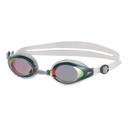 Очки для плавания SPEEDO 8706015555 MARINER MIRROR (поликарбонат, TPR, силикон,бело-зелен)
