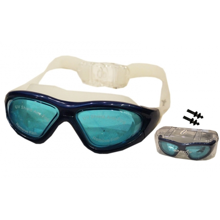 Очки (полумаска), беруши для плавания с застежкой SAILTO QY9100 (пластик, силикон, цвета в ассорт.)