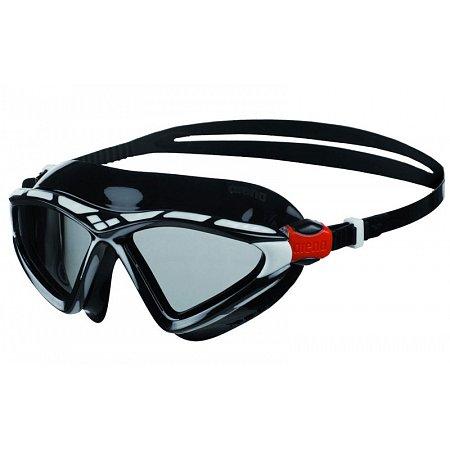 Очки (полумаска) для плавания ARENA AR-1E091-55 X-SIGHT 2 (поликарбонат, TPR, силикон, черный-серый)