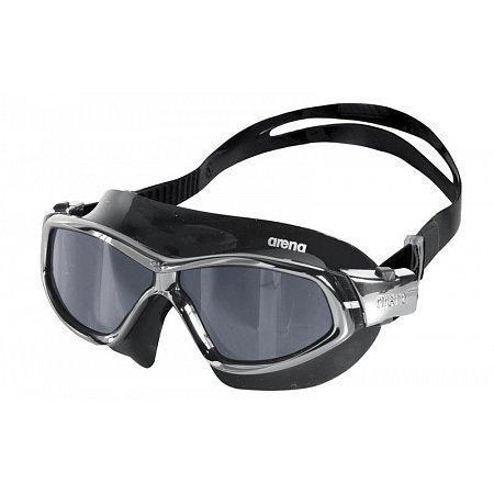 Очки (полумаска) для плавания ARENA AR-92363-50 ORBIT UNISEX (поликарбонат, TPR, силикон, черно-серые)