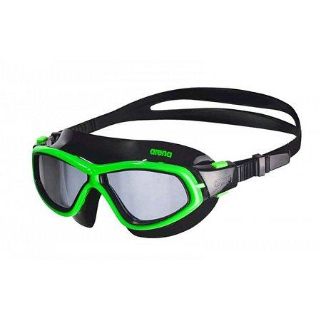 Очки (полумаска) для плавания ARENA AR-92363-65 ORBIT UNISEX (поликарбонат, TPR, силикон, черный-зеленый)