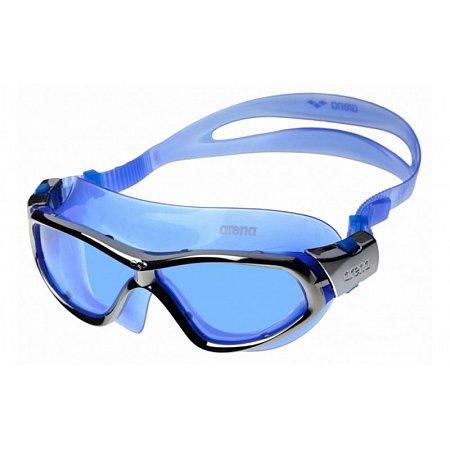 Очки (полумаска) для плавания ARENA AR-92363-77 ORBIT UNISEX (поликарбонат, TPR, силикон, синий-серый)