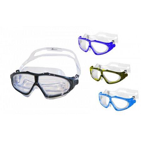 Очки (полумаска) для плавания SIROCCO PL-2160 (термостекло, пластик, силикон, цвета в ассортименте)