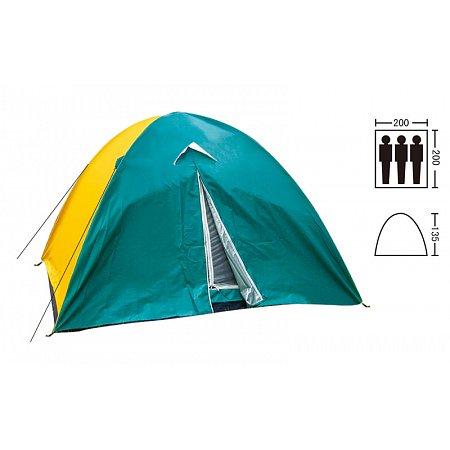 Палатка универсальная 3-х местная с тентом SY-029 (р-р 2х2х1,35м, нейлон)