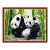 Панды, серия Животные и птицы, рисование по номерам, 40 х 50 см, Идейка, Панды (KH195)