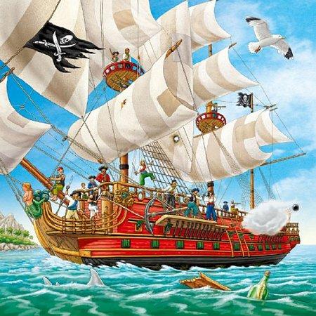Пазл-3х49 Ravensburger Приключения пиратов (09275R)