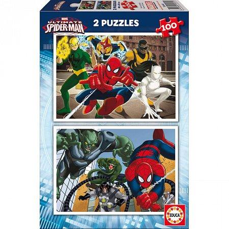 Пазл EDUCA Человек-паук 2 пазла по 100 элементов (EDU-15640)