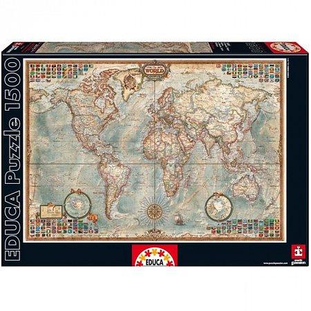 Пазл EDUCA Карта мира 1500 элементов (EDU-16005)