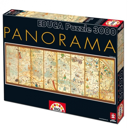 Пазл EDUCA Карта мира от 1375года, Аврам Крескес 3000 элементов (EDU-16355)