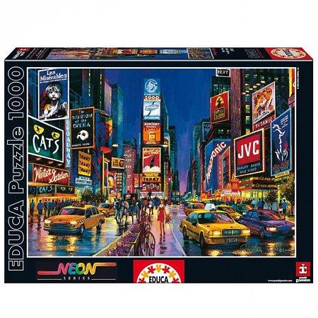 Пазл EDUCA светящийся Таймс-сквер, Нью-Йорк 1000 элементов (EDU-13047)