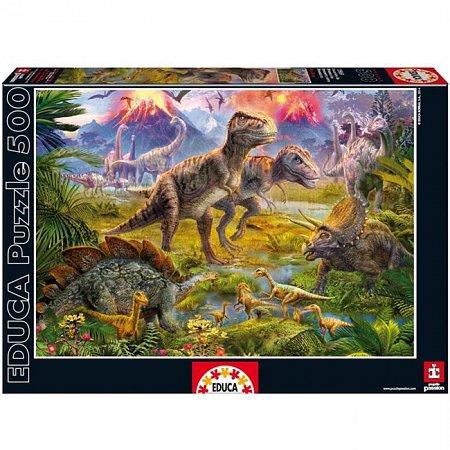 Пазл EDUCA Встреча динозавров 500 элементов (EDU-15969)