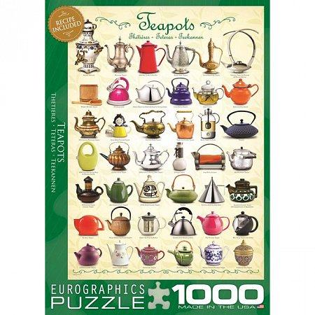 Пазл Eurographics Чайники, 1000 элементов (6000-0599)