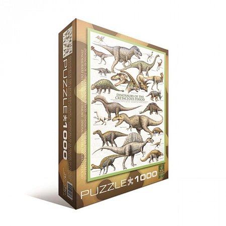 Пазл Eurographics Динозавры Мелового пероида, 1000 элементов (6000-0098)