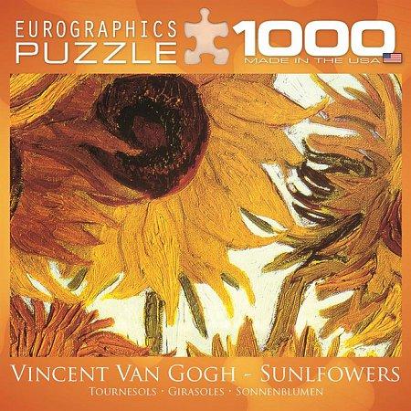 Пазл Eurographics Двенадцать подсолнухов (фрагмент) Винсент ван Гог, 1000 элементов (8000-0477)