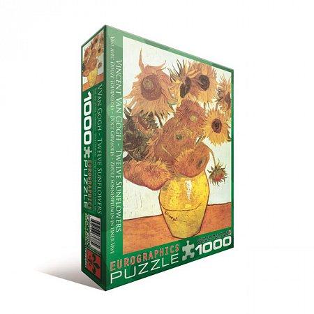 Пазл Eurographics Двенадцать подсолнухов Винсент ван Гог, 1000 элементов (6000-3688)