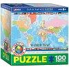 Пазл Eurographics Карта Мира для детей №1, 100 элементов (8100-1271)