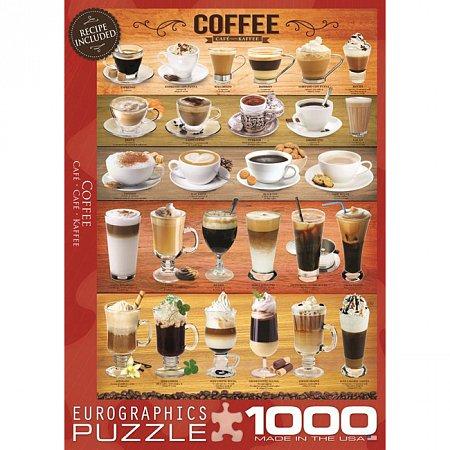 Пазл Eurographics Кофе, 1000 элементов (6000-0589)