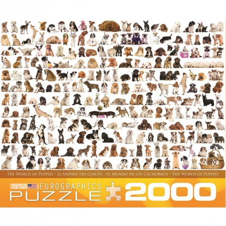 Пазл Eurographics Мир собак, 2000 элементов (8220-0581)