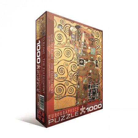 Пазл Eurographics Объятия Густав Климт, 1000 элементов (6000-9961)