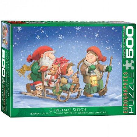 Пазл Eurographics Рождественские сани, 500 элементов (6500-0353)